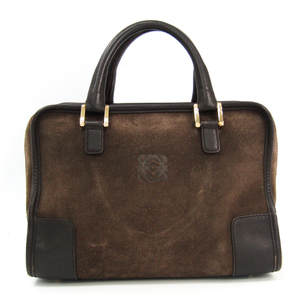 Loewe Amazona 360.79.001 Women's Leather Handbag Brown