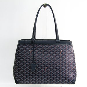 Goyard Bellechasse Bellechasse PM Women's Canvas,Leather Tote Bag Navy
