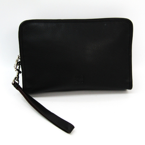 Loewe Unisex Leather Clutch Bag Black
