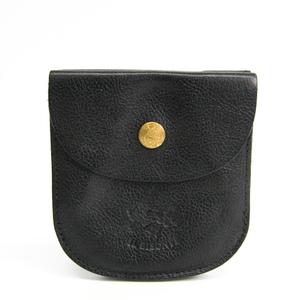 Il Bisonte Men's  Calfskin Wallet (bi-fold) Black