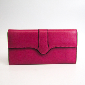 Valextra Punch Long Wallet /3 Card Leather V9U14-028-000K-OC  Calfskin Long Wallet (bi-fold) Magenta