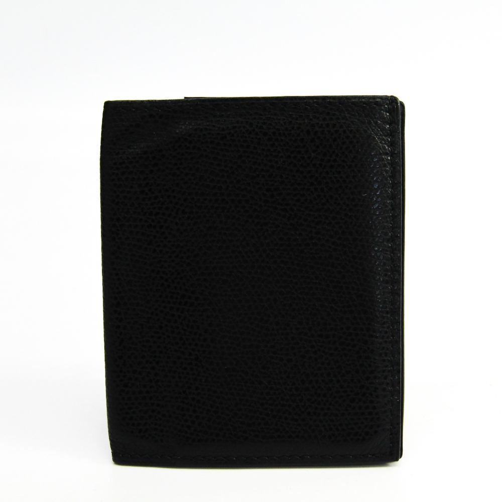 ヴァレクストラ(Valextra) ユニセックス  型押しレザー 札入れ(二つ折り) ブラック