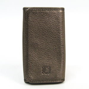 Loewe 111.08.611 Unisex Leather Key Case Bronze