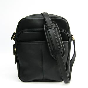 Coach 593 Unisex Leather Shoulder Bag Black