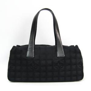 シャネル(Chanel) ニュートラベルライン A23807 レザー,ナイロン ボストンバッグ,ハンドバッグ ブラック