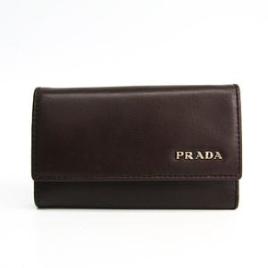 プラダ(Prada) Vitello 2M0025 メンズ レザー キーケース ブラウン
