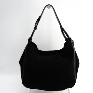 Ralph Lauren Unisex Leather Shoulder Bag Black