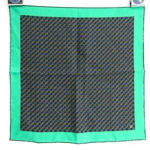 グッチ(Gucci) ホースビット ランバスプリント ポケットハンカチーフ 572415 レディース シルク スカーフ ベージュ,グリーン,レッド