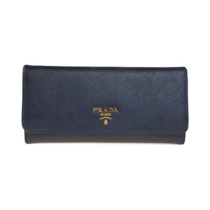 プラダ(Prada) Saffiano 1MH132 Saffiano Metal 長財布(二つ折り) Bluette(ブリエッタ)