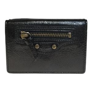 バレンシアガ(Balenciaga) 477455 クラシック ミニ ウォレット  財布(三つ折り) ブラック