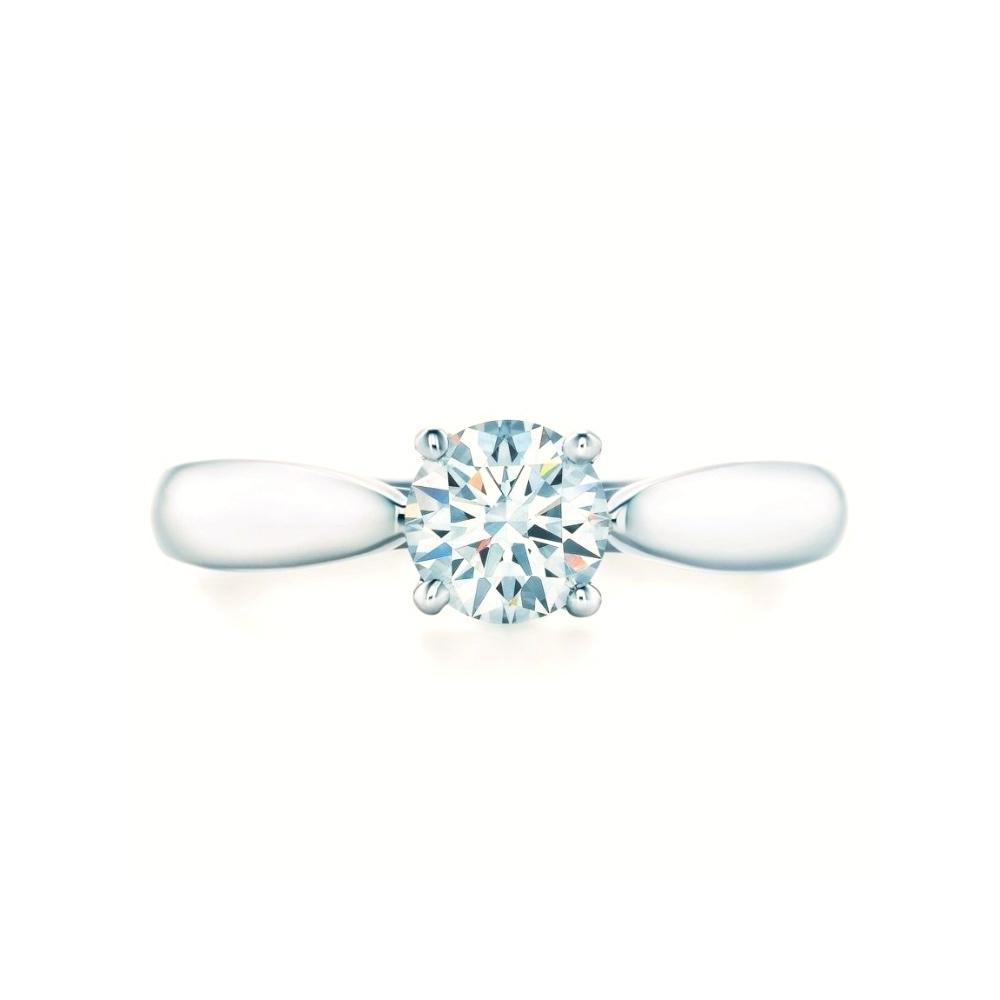 Tiffany Harmony Beads Setting Platinum 950 Engagement & Wedding Diamond Engagement Ring Carat/0.26 Platinum