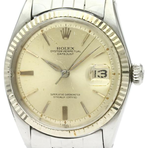 ロレックス(Rolex) デイトジャスト 自動巻き ステンレススチール(SS),ホワイトゴールド(WG) メンズ ドレスウォッチ 1601