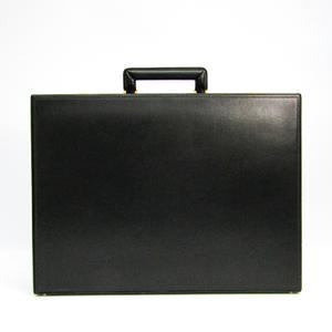 Valextra Men's Leather Attaché Case Black