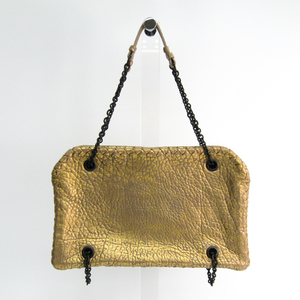 Bottega Veneta Leather Shoulder Bag Gold