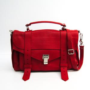 プロエンザ・スクーラー(Proenza Schouler) PS1 M/ Medium Lux True Red H0002 レディース レザー ハンドバッグ レッド