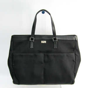 Gucci 153218 Unisex Nylon,Leather Tote Bag Black