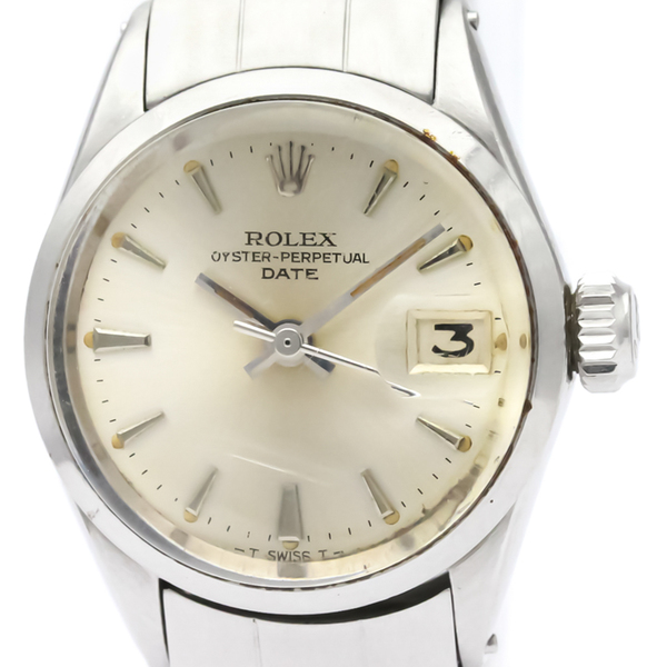 【ROLEX】ロレックス オイスター パーペチュアル デイト 6516 ステンレススチール 自動巻き レディース 時計