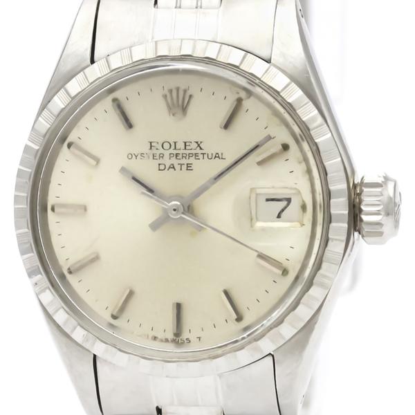 ロレックス(Rolex) オイスター・パーペチュアル・デイト 自動巻き ステンレススチール(SS) レディース ドレスウォッチ 6524