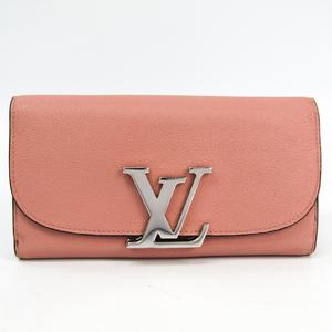 ルイ・ヴィトン(Louis Vuitton) ポルトフォイユ・ヴィヴィエンヌ M58408 レディース  カーフレザー 長財布(二つ折り) マグノリア