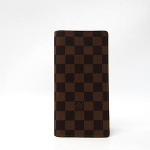 ルイ・ヴィトン(Louis Vuitton) ダミエ ポルトフォイユ・ブラザ N60017 メンズ ダミエキャンバス 長財布(二つ折り) エベヌ