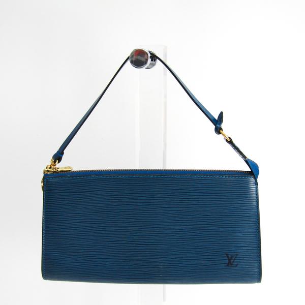 ルイ・ヴィトン (Louis Vuitton) エピ ポシェット・アクセソワール24 M52945 エピレザー ハンドバッグ トレドブルー
