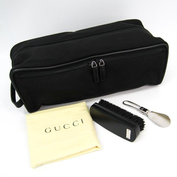 グッチ(Gucci) 019-0580 ユニセックス ナイロン,レザー ポーチ ブラック