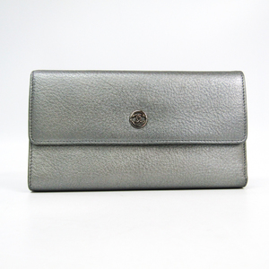 シャネル(Chanel) レディース  ゴートスキン 長財布(二つ折り) シルバー