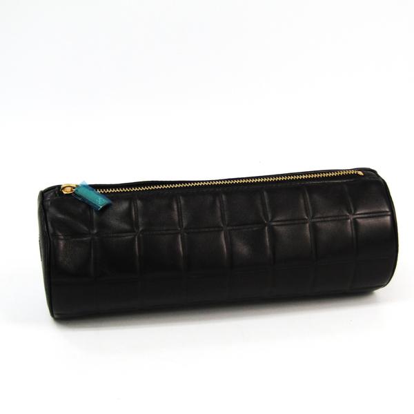 シャネル(Chanel) チョコバー A17825 レディース レザー ポーチ ブラック