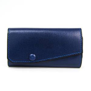 Valextra V1L76 Unisex Leather Key Case Royal Blue
