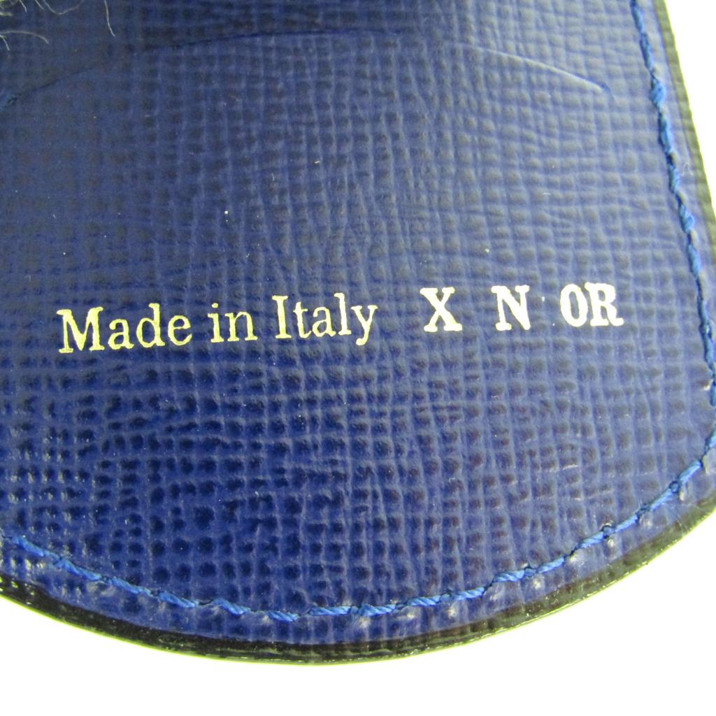 ヴァレクストラ(Valextra) V1L76 ユニセックス レザー キーケース ロイヤルブルー