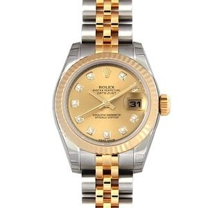 ロレックス(Rolex) デイトジャスト 自動巻き ステンレススチール(SS),イエローゴールド(YG) レディース 高級時計 179173G