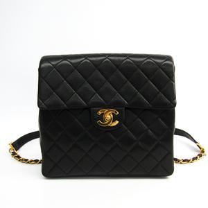 シャネル(Chanel) レザー リュックサック ブラック