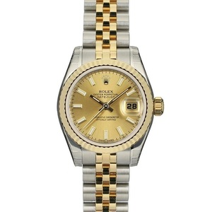 ロレックス(Rolex) デイトジャスト 自動巻き ステンレススチール(SS),イエローゴールド(YG) レディース 高級時計 179173