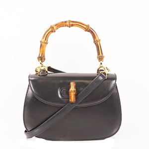 Auth Gucci Bamboo  2way Hand Shoulder Bag