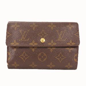 Auth Louis Vuitton Wallet Monogram Porte Tresor Etui Papiers M61202