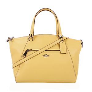 Auth Coach 2WAYbag Women's Leather Handbag,Shoulder Bag Yellow