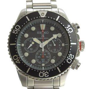 Genuine SEIKO Seiko Diver Men's Solar Watch Model: V175-0AD0