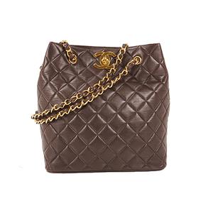 シャネル(Chanel) マトラッセ チェーンショルダー ラムスキン ダークブラウ 3680250 レディース ショルダーバッグ,トートバッグ ブラック