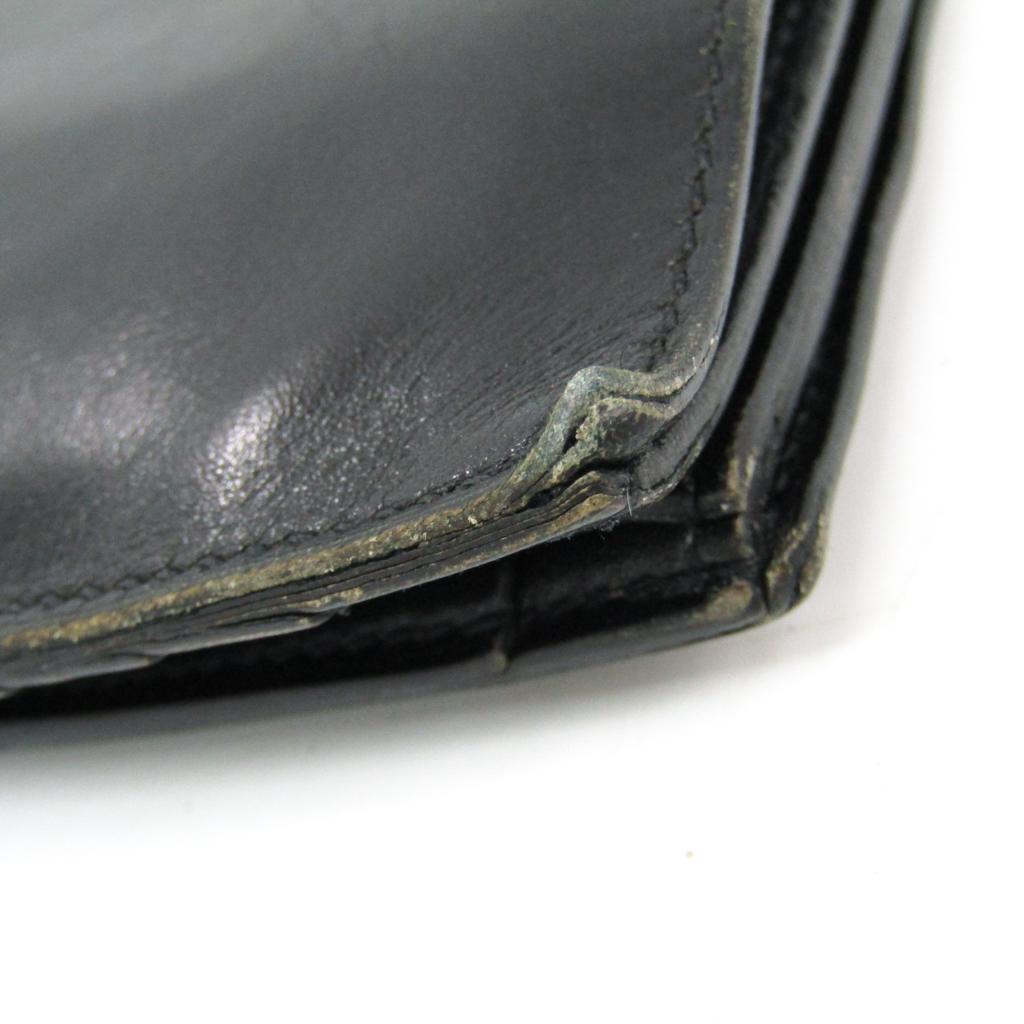 エルメス (Hermes) ボックスカーフ ボックスカーフ 財布 ブラック