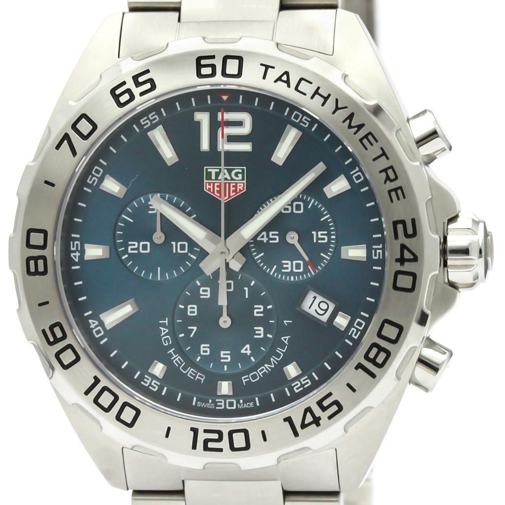 size 40 a2fed 5996f Details about Polished TAG HEUER Formula 1 Chronograph Steel Quartz Watch  CAZ101K BF341903