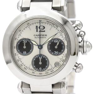 【CARTIER】カルティエ パシャC クロノグラフ ステンレススチール 自動巻き ユニセックス 時計 W31048M7