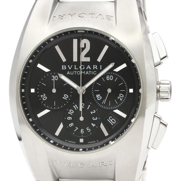 【BVLGARI】ブルガリ エルゴン クロノグラフ ステンレススチール 自動巻き メンズ 時計 EG40SCH