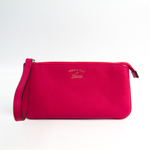 33fdec400 Gucci Gucci Swing Wristlet 368878 Women's Leather Pouch Pink