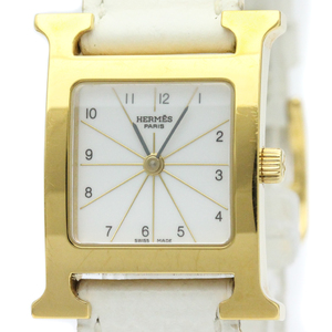 Hermes Heure H Quartz Gold Plated Women's Dress Watch HH1.201