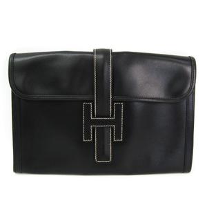 エルメス(Hermes) ジジェ PM レディース ボックスカーフ クラッチバッグ ブラック