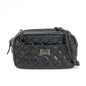 シャネル(Chanel) 2.55 レディース レザー ショルダーバッグ ブラック