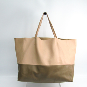 Celine Cabas Horizontal 166113 Women's Leather Tote Bag Light Beige,Nude Beige