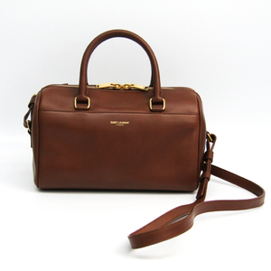 Saint Laurent Baby Duffle 330958 Women's Leather Handbag Brown