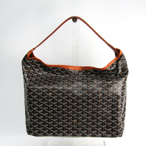 Goyard Leather,Canvas Shoulder Bag Black,Brown