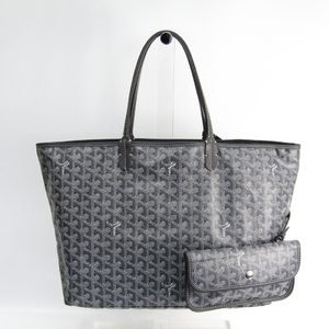 Goyard Saint Louis Saint Louis PM Leather,Canvas Tote Bag Gray